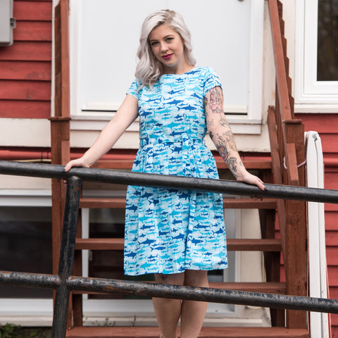 Sharks Dress by Run and Fly