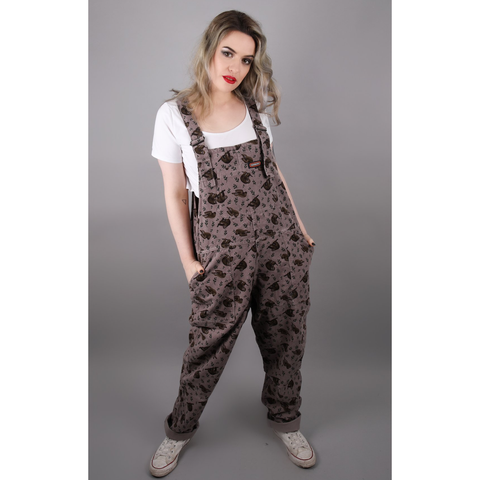 Sloth Corduroy Dungarees by Run and Fly