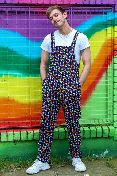 Rainbow Corduroy Dungarees by Run and Fly