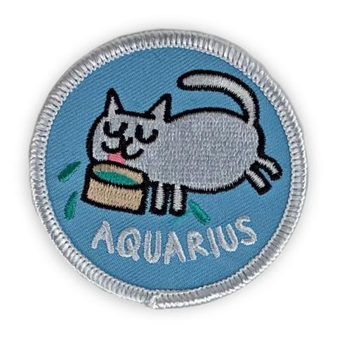 Aquarius Catsrology Patch by Badge Bomb