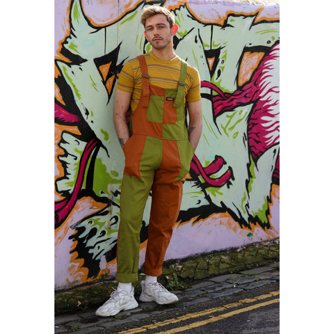 Two Tone Apple Pie Dungarees by Run and Fly