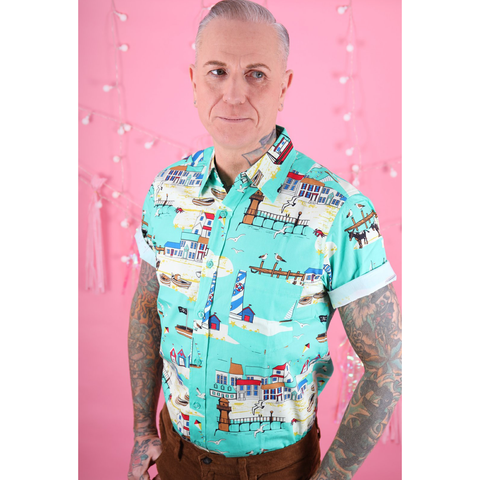 Seaside Button Up Shirt by Run and Fly