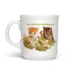 The Hell You Looking At Mug by Fred