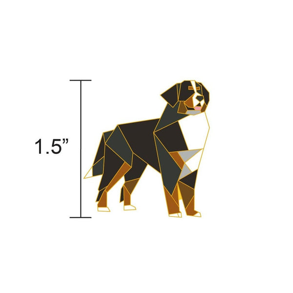 Bernese Mountain Dog Pin by FoldIT Creations