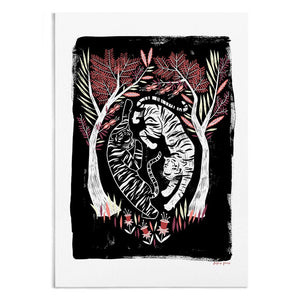 Tigers In The Forest Art Print by Papio Press