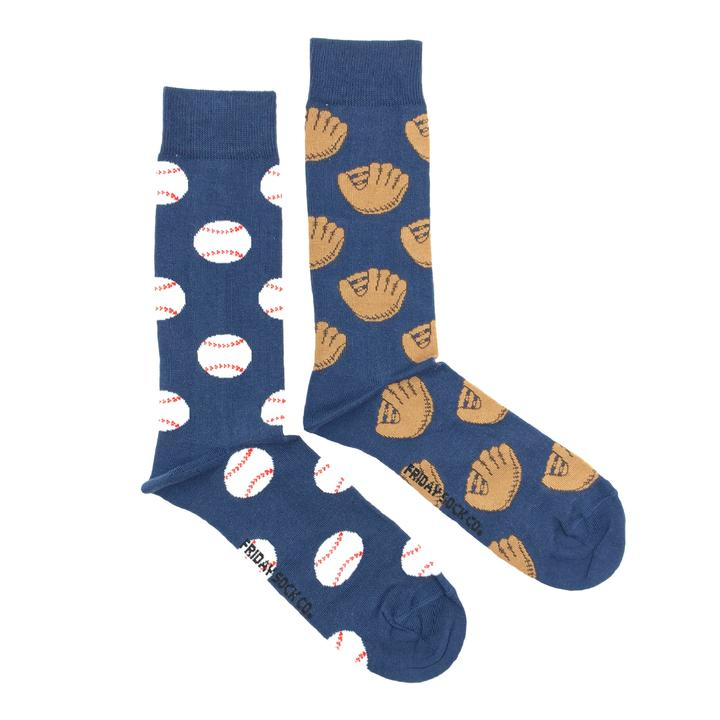 Baseball & Glove by Friday Sock Co.