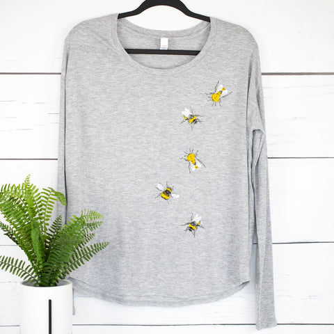Bees Flowy Long Sleeve