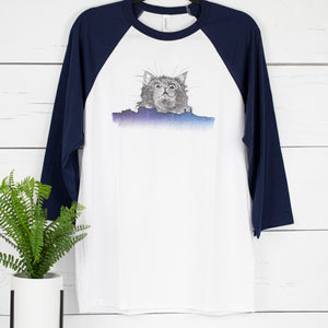 Big Kitty Little City Unisex Baseball Tee