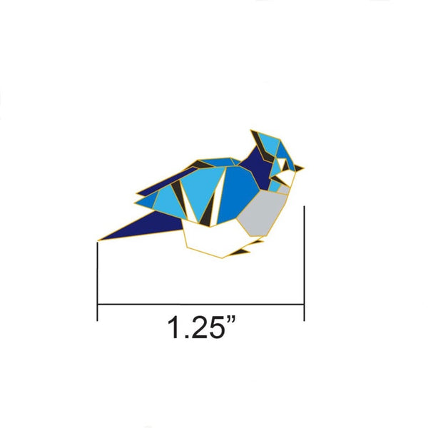 Blue Jay Pin by FoldIT Creations