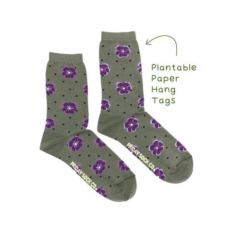 Pansy Floral by Friday Sock Co.