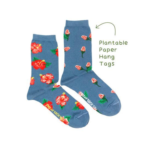 Hibiscus Floral by Friday Sock Co.