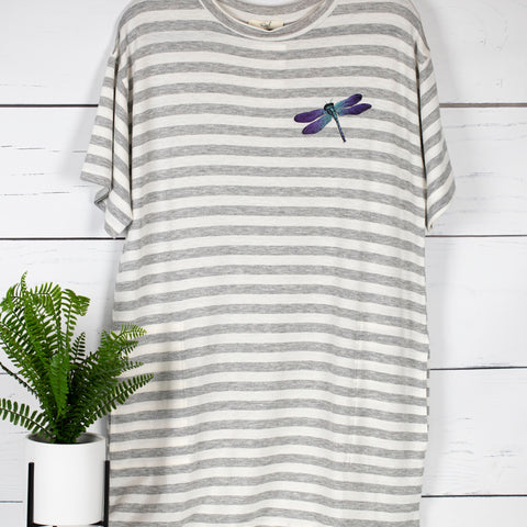 Dragonfly Striped Pocket Dress