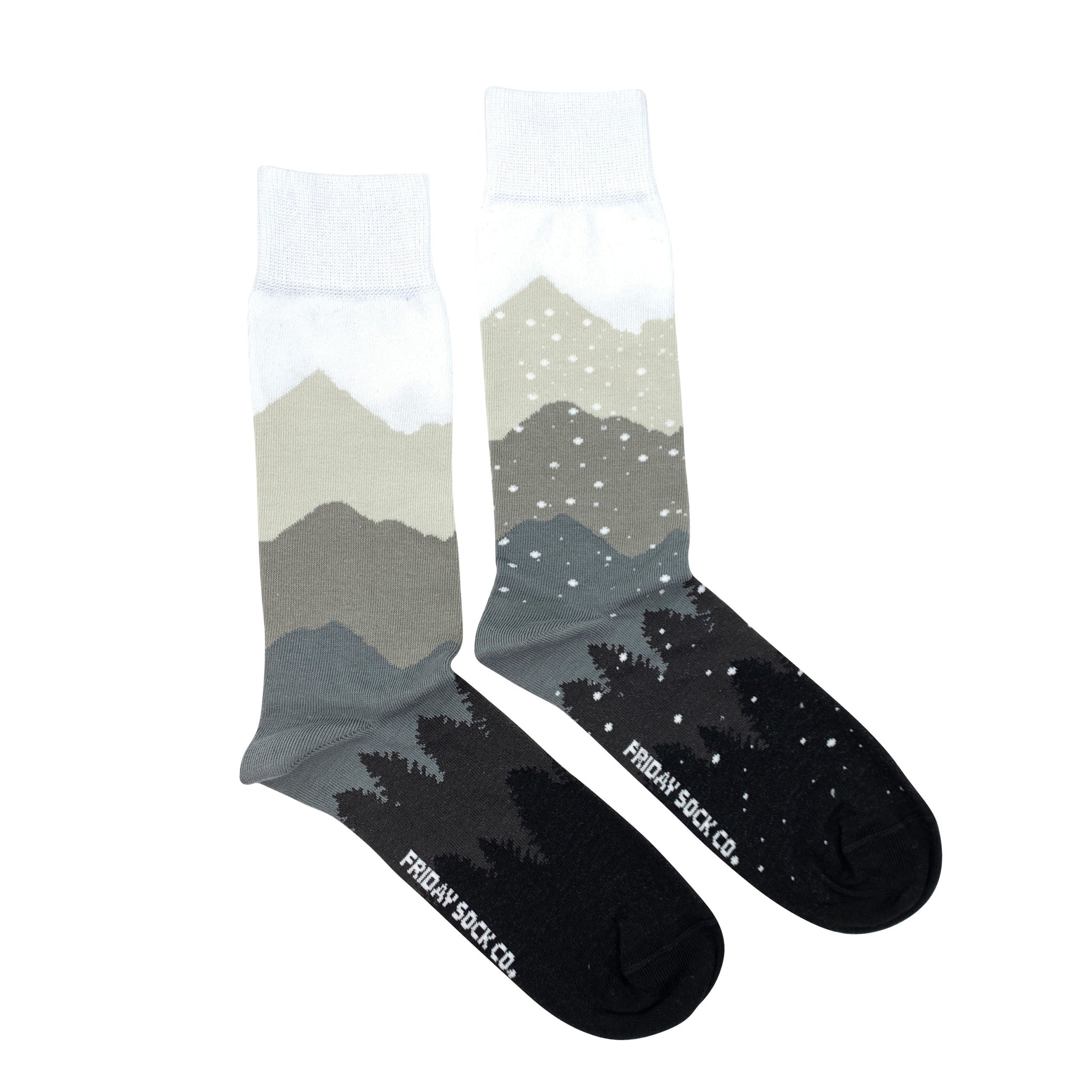 Mountain & Snow Recycled Cotton by Friday Sock Co.