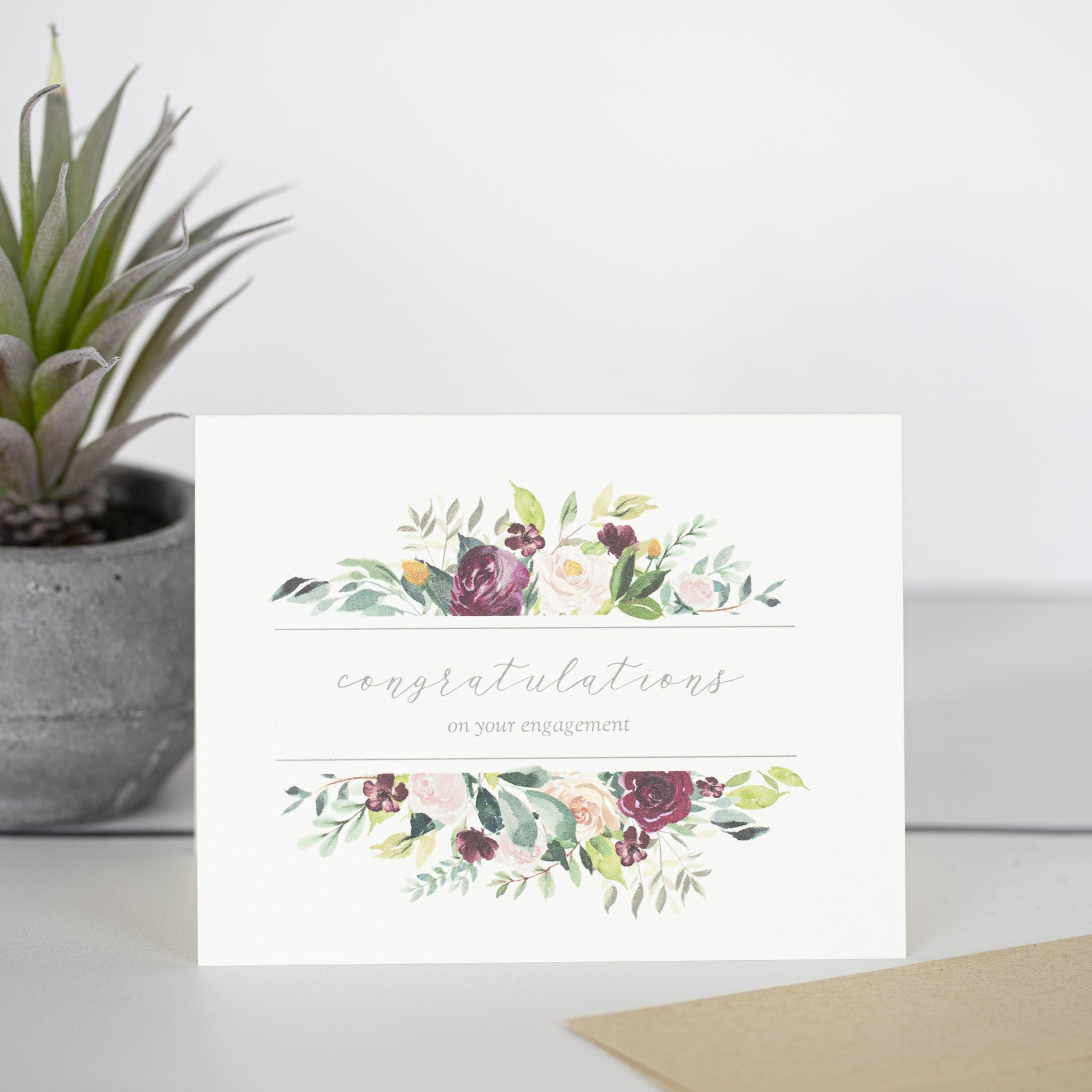 Congratulations On Your Engagement Greeting Card by Driven To Ink