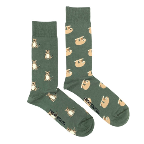 Sloth and Cheetah by Friday Sock Co.
