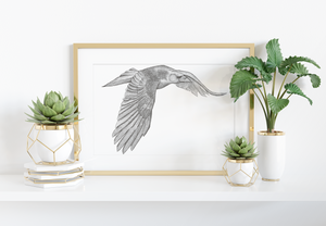 Flying Crow Art Print