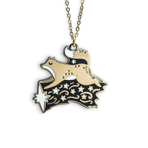 Fox Shooting Star Necklace by Papio Press