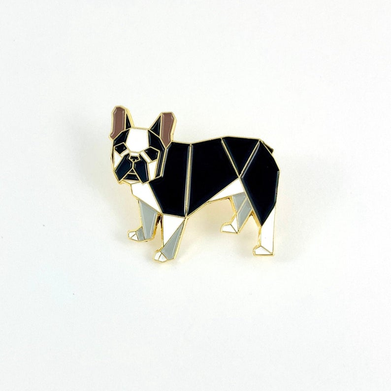 French Bulldog Pin by FoldIT Creations