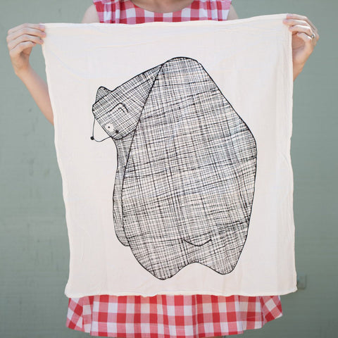 Bear Tea Towel by Gingiber
