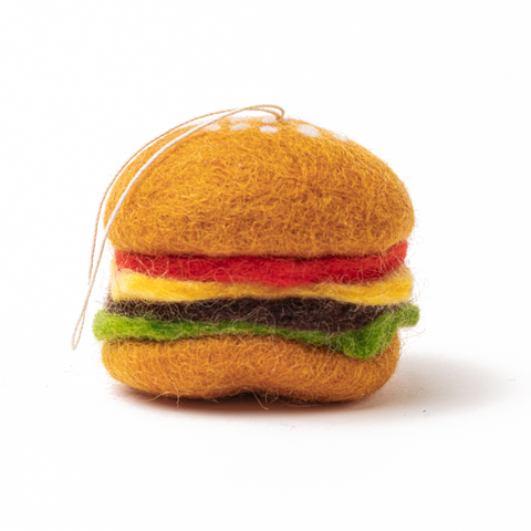 Felt Burger Ornament