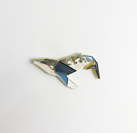 Humpback Whale Pin by FoldIT Creations