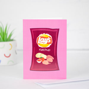 Ketchup Chips Card by Kate Fudge Art