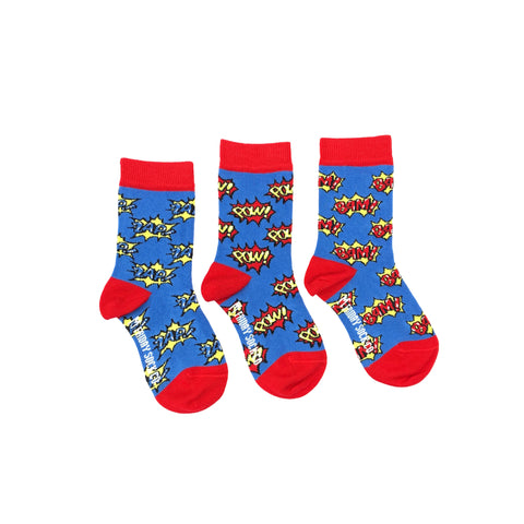 Kid's Superhero Socks by Friday Sock Co.