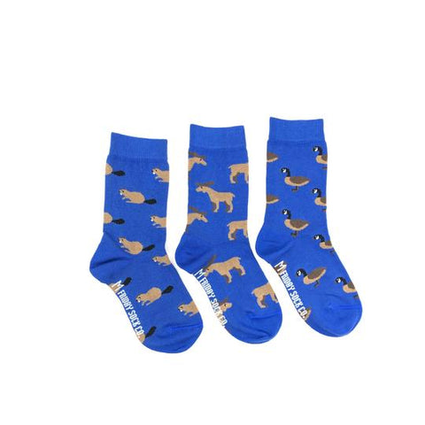 Kid's Moose, Beaver, & Goose by Friday Sock Co.
