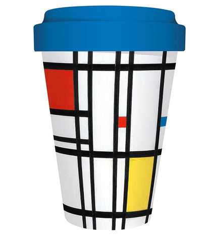 Composition with Yellow, Bue, and Red Travel Mug