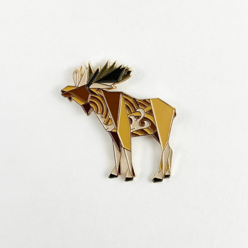 Moose Pin by FoldIT Creations