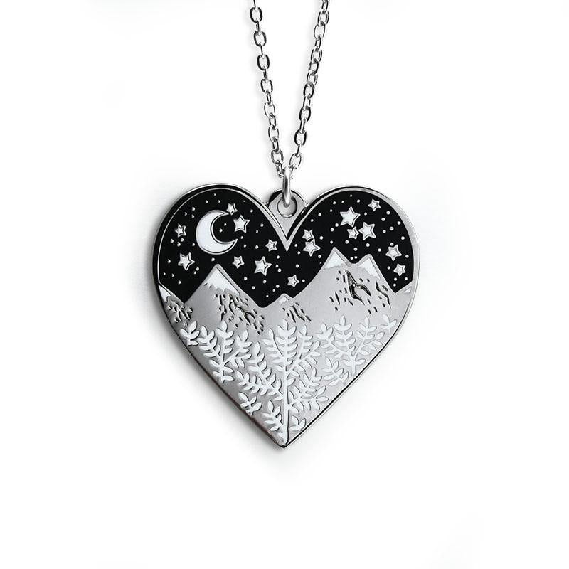 Mountains Heart Necklace by Papio Press