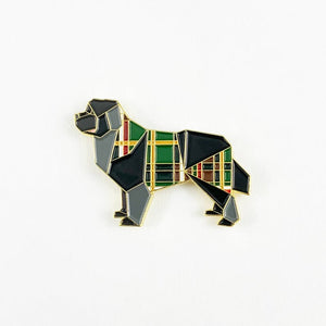Newfoundland Dog Pin by FoldIT Creations