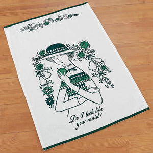 Do I Look Like Your Maid Tea Towel by Fishs Eddy