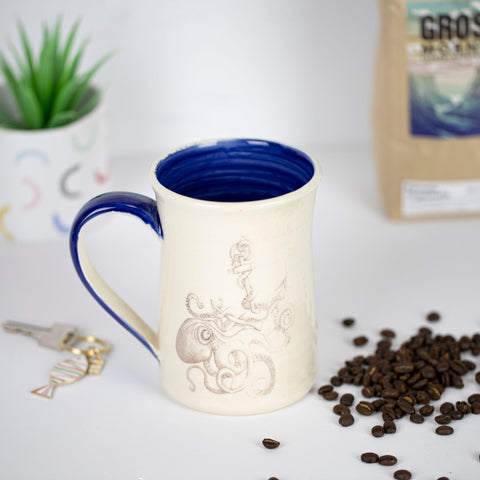 Octopus Anchor Blue Mug by CUP