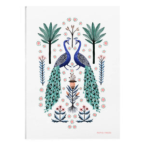 Peacocks Art Print by Papio Press