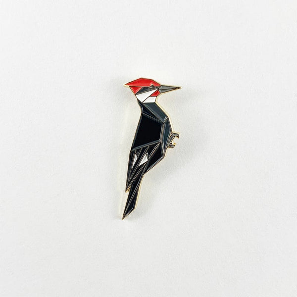Pileated Woodpecker Pin by FoldIT Creations