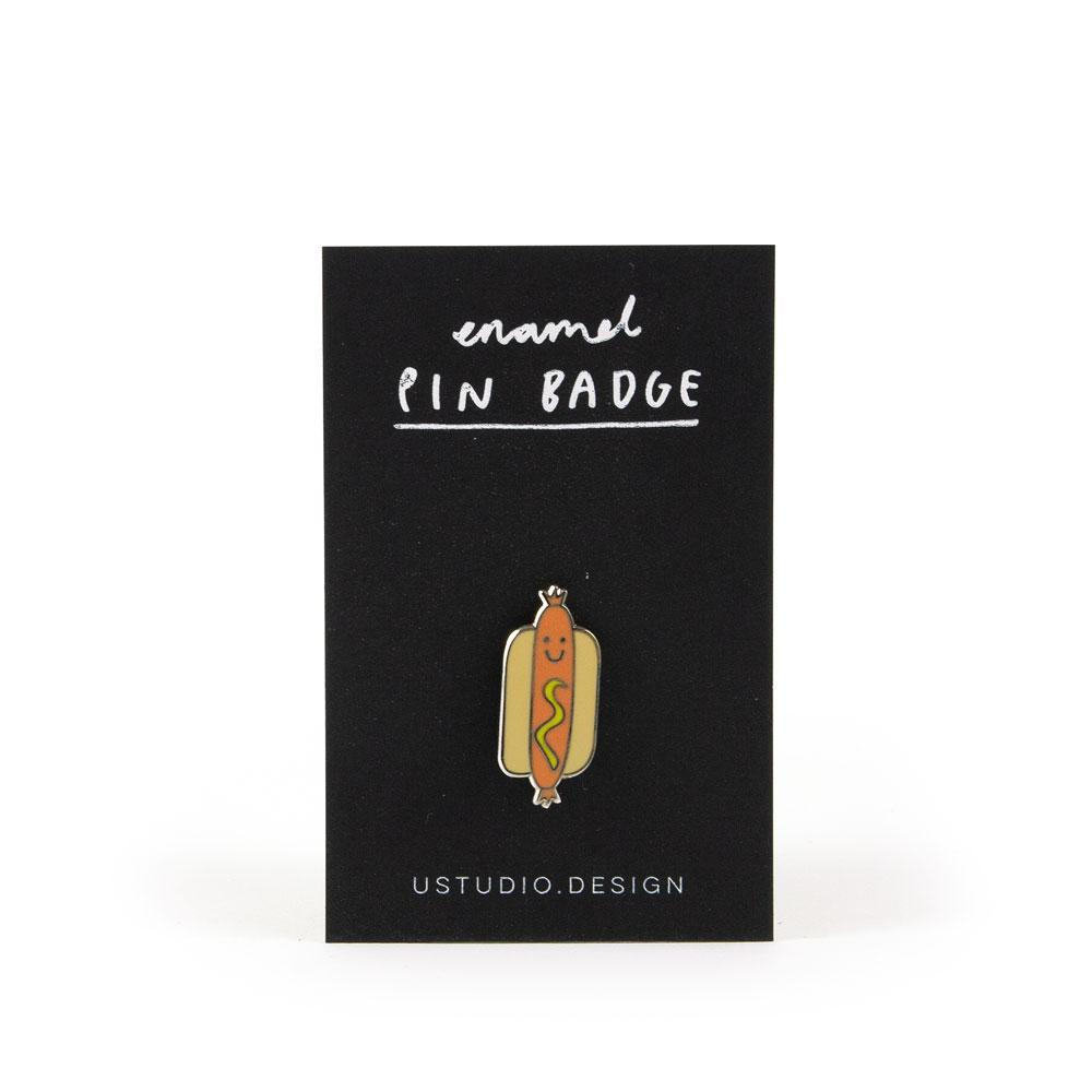 Hotdog Enamel Pin by U Studio