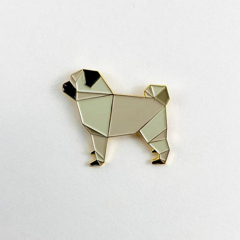 Pug Pin by FoldIT Creations