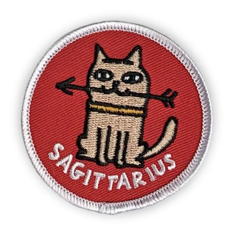 Sagittarius Catsrology Patch by Badge Bomb