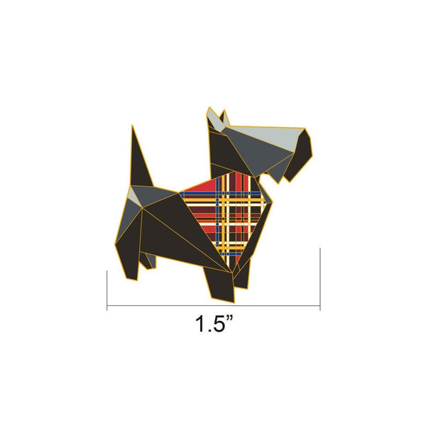 Scottish Terrier Pin by FoldIT Creations