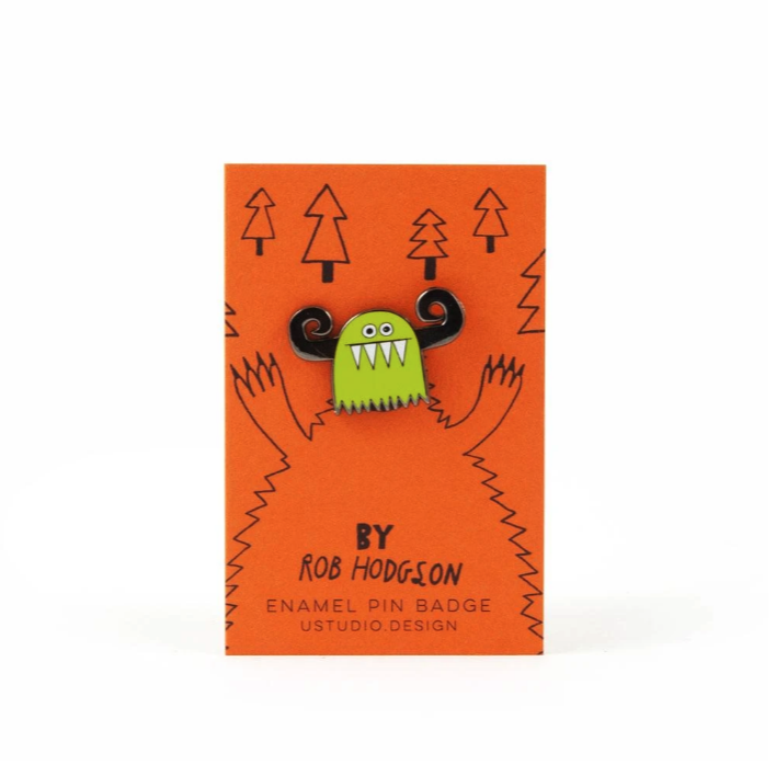 Monster Head Enamel Pin by U Studio