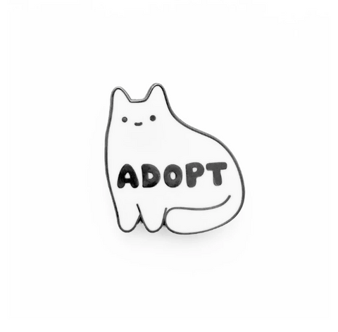 Adopt Don't Shop Pin by Sparkle Collective