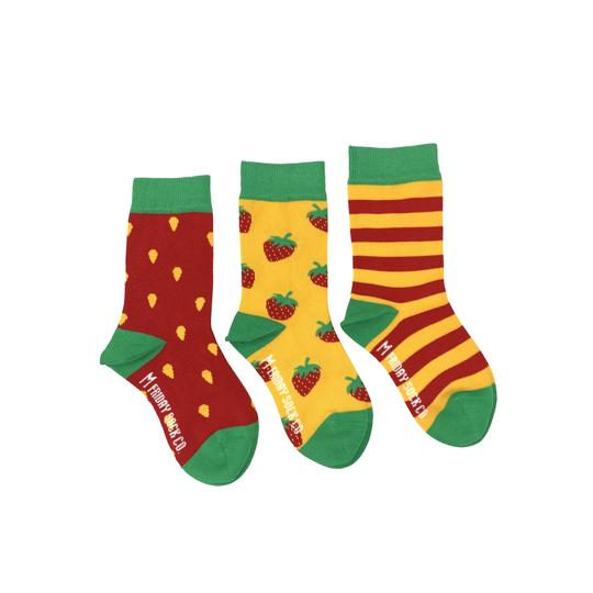 Kid's Inside Out Strawberry Socks by Friday Sock Co