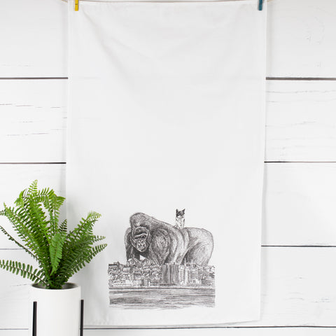 Pinki's Day Out Tea Towel