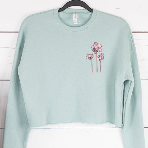 Pitcher Plant Cropped Fleece Pullover