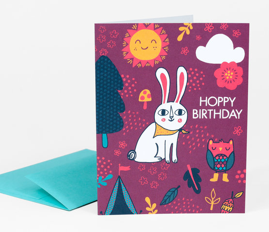 Hoppy Birthday Card by Allison Cole