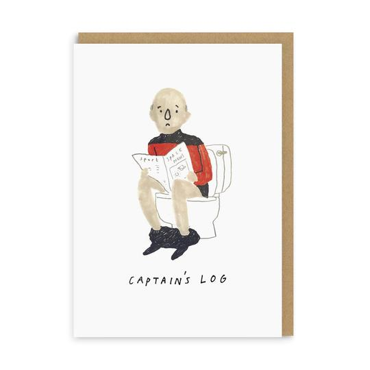 Captain's Log Greeting Card by Ohh Deer