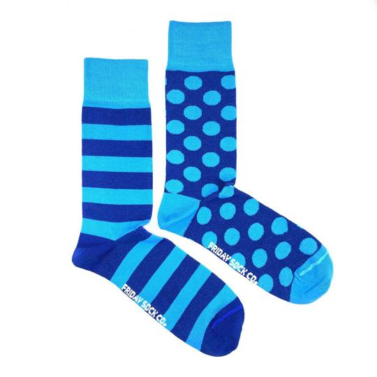 Blue Stripes & Dots by Friday Sock Co.