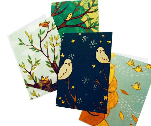 Four Seasons Notecard Set of 4