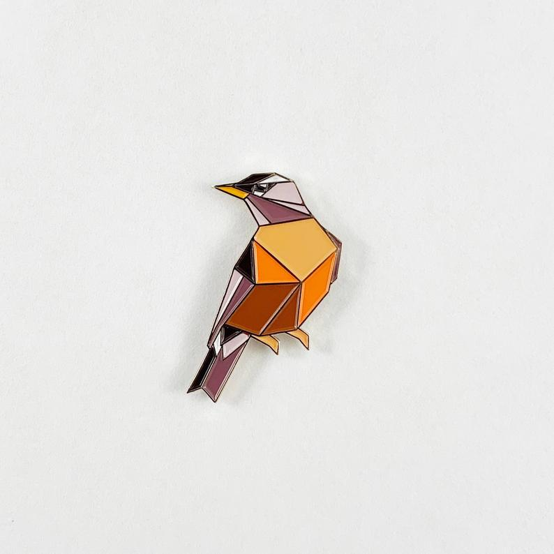 American Robin Pin by FoldIT Creations